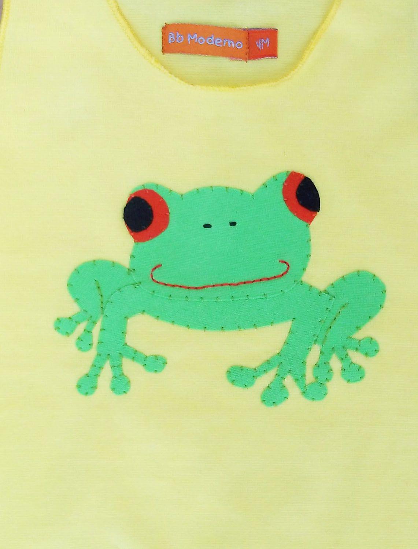 Macacão para bebê Regata Amarelo