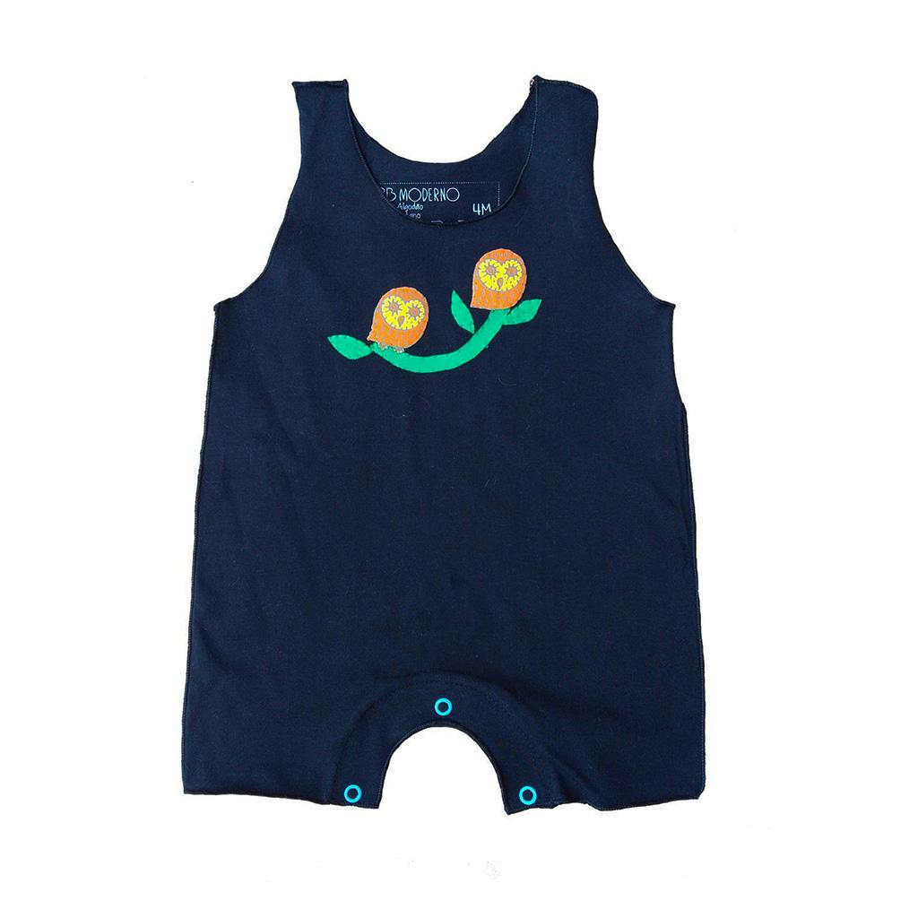 Macacão Regata Preto Coruja para bebê