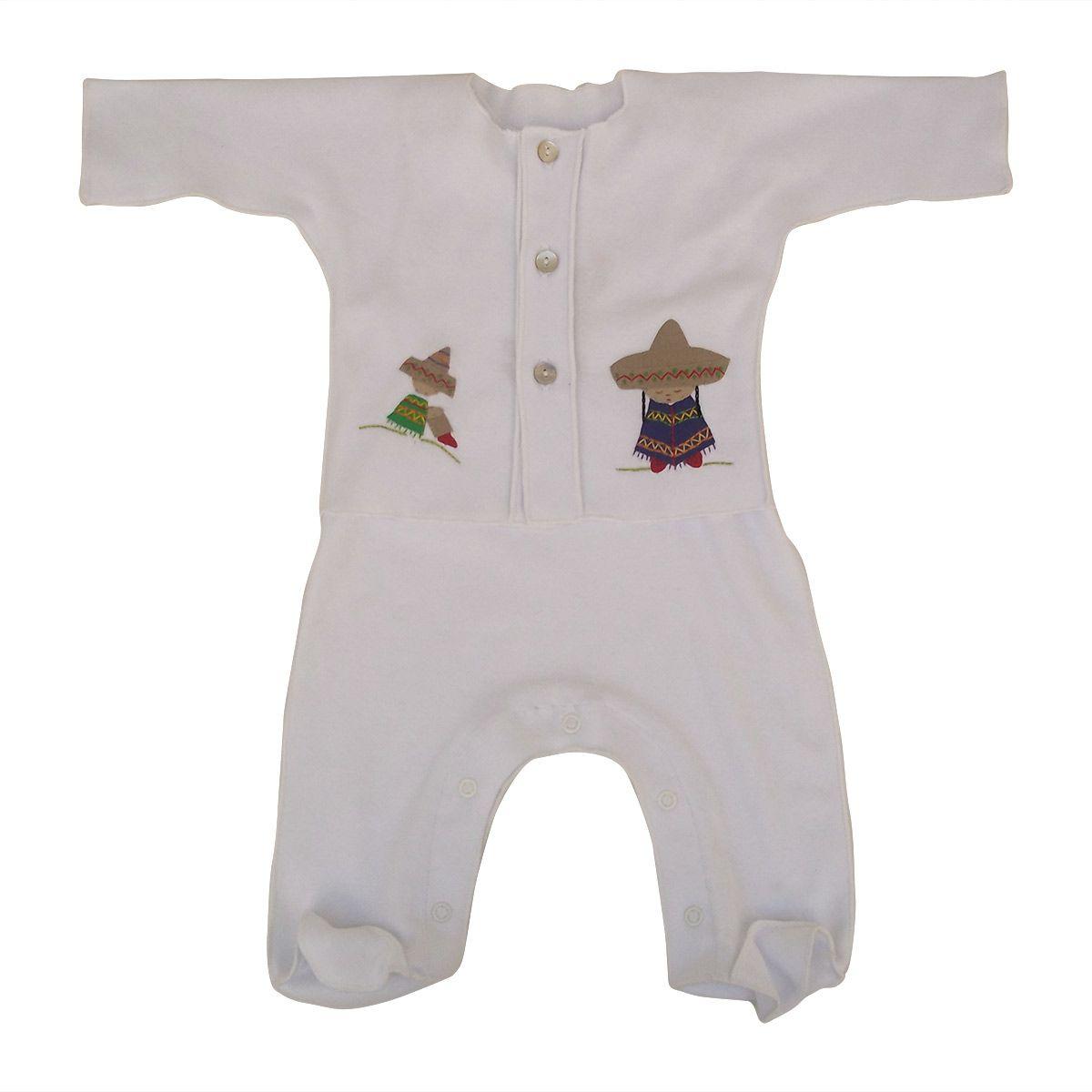 Saída Maternidade Unissex Branco