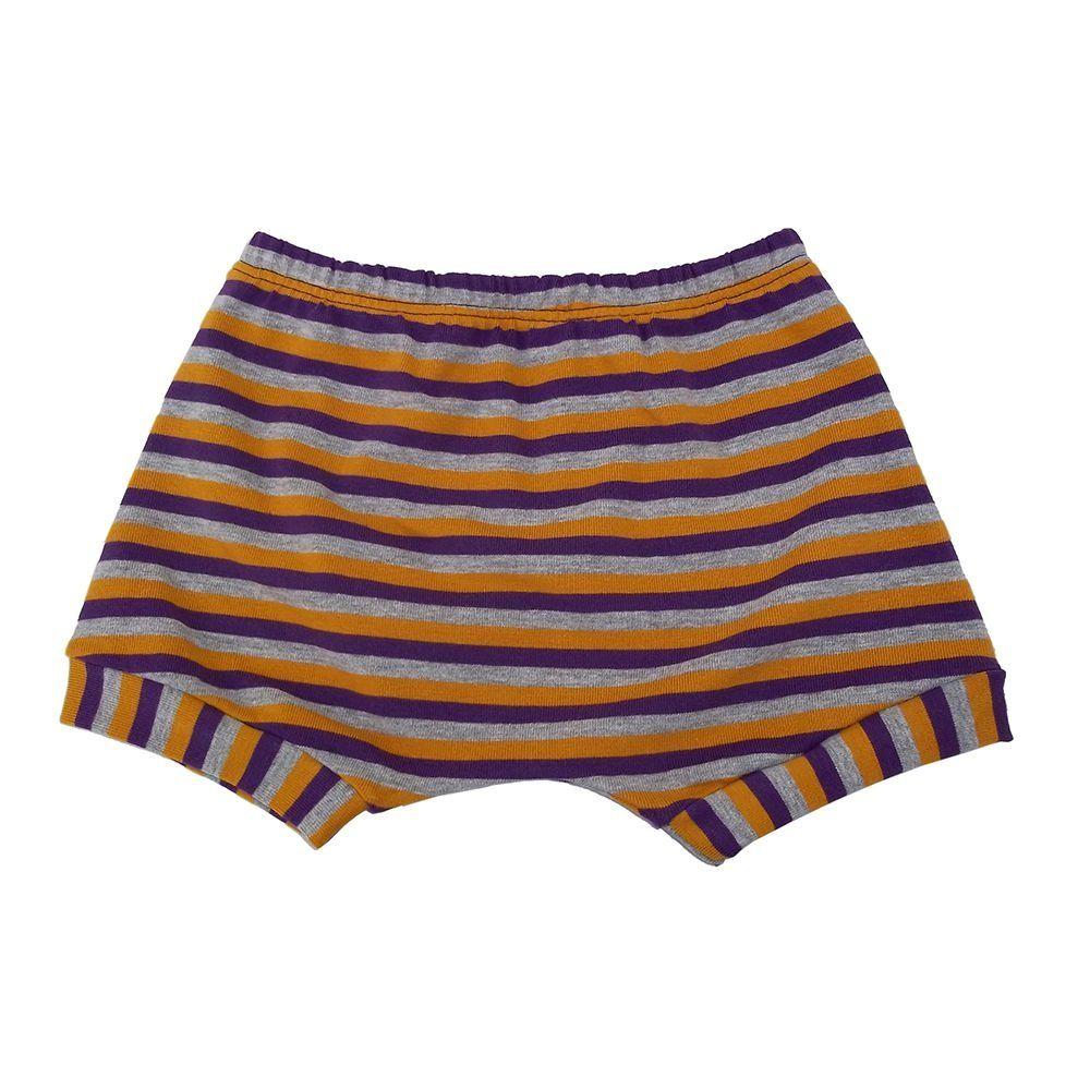 Shorts listrado Roxo para bebê