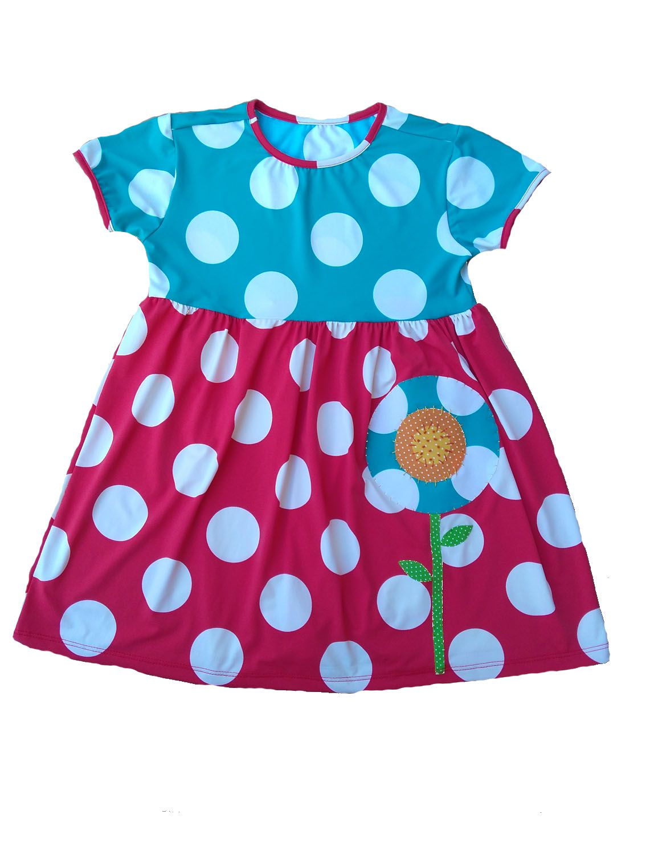 Vestido Infantil Bolas