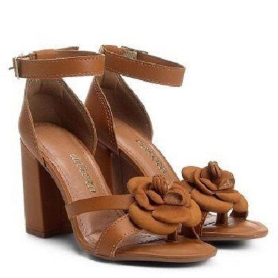 adbc3f4666 Sandália Dakota Salto Grosso Feminino - Lú Calçados - Calçado certo ...