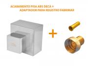 Acabamento Quadrado Registro 1.1/2 Ou 1.1/4 Pisa Fabrimar