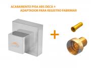 Acabamento Quadrado Registro 1/2 3/4 e 1 Pisa - Fabrimar