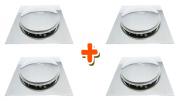 Kit 04 Ralo Click Inteligente Para Piso 10 Cm X 10 Cm