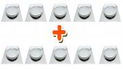Kit 10 Ralo Click Inteligente Para Piso 15 Cm X 15 Cm