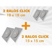 KIT RALO CLICK 02 UNIDADE 15X15 CM + 02 UNIDADE 10X10 CM