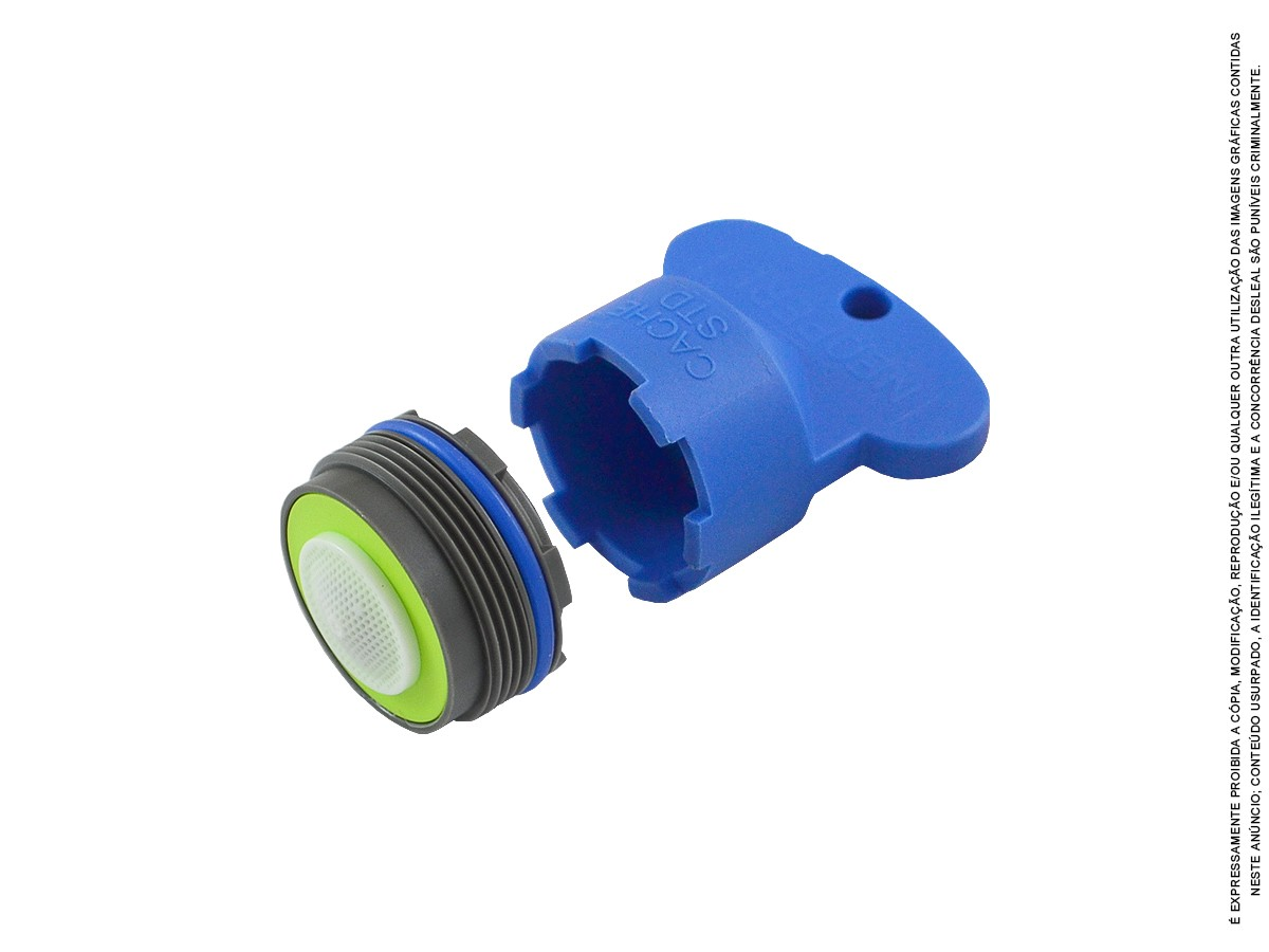 3 Un Arejador Spray Embutido M24 1,8 L/min + Chave Idral