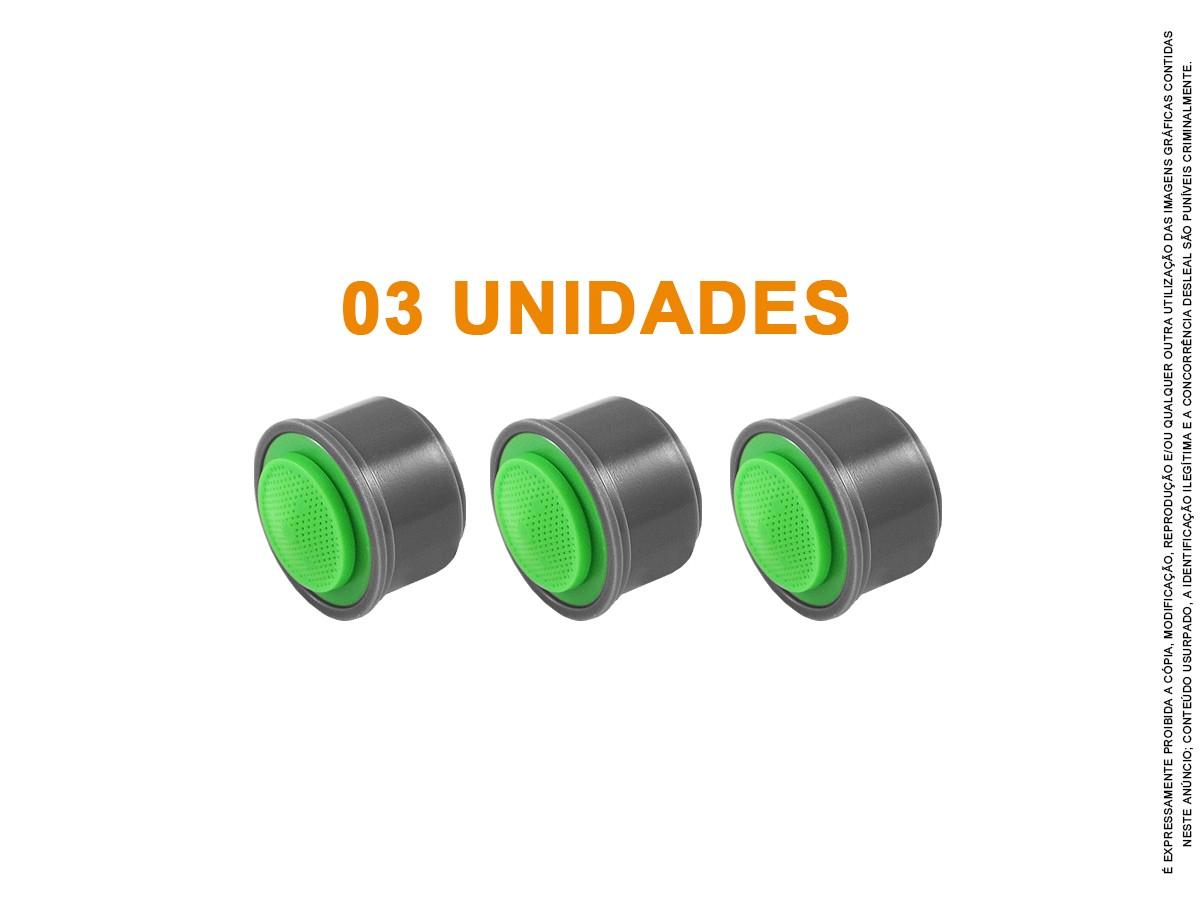 3 Un Arejador Spray M24 1,8 L/min Miolo + Chave Idral