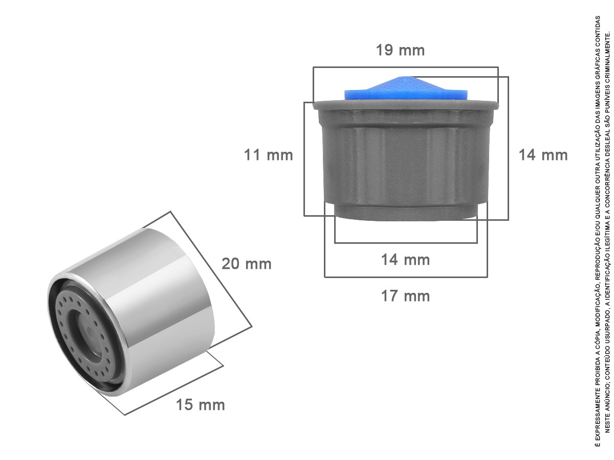 3 Un Arejador Spray M24 Capa Em Metal 3,6 L/minuto Idral