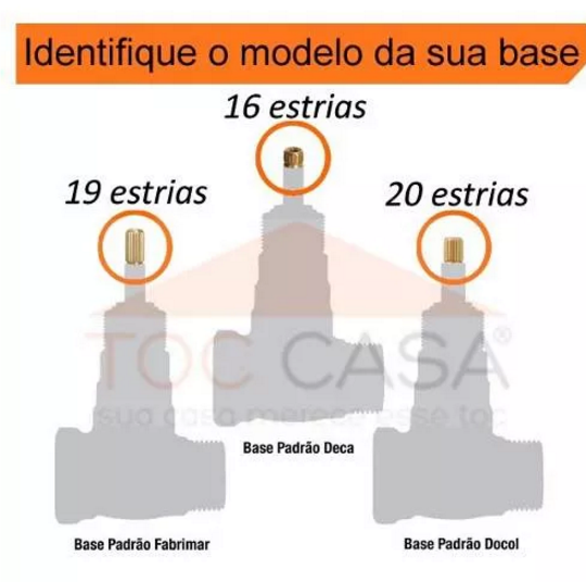 ACABAMENTO PARA REGISTRO PADRÃO DECA 1/2 3/4 OU 1 BARI 1416