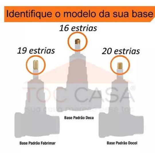 ACABAMENTO PARA REGISTRO PADRÃO DOCOL 1/2 , 3/4 OU 1 LECCE - 1416