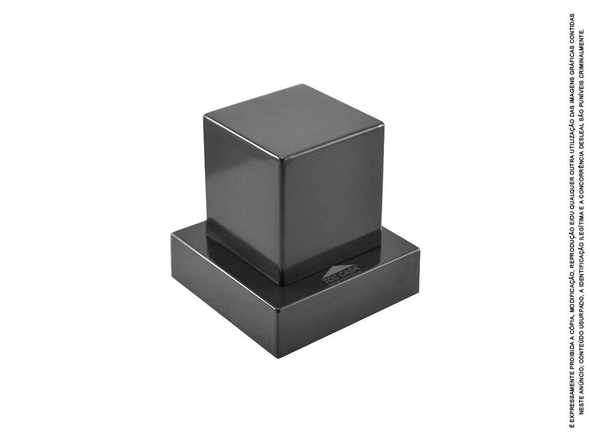 Acabamento Quadrado Registro Deca Preto Fosco Black Pisa