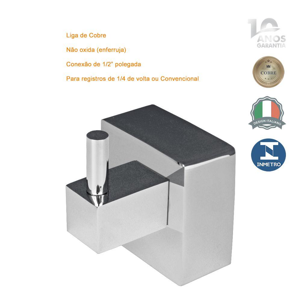 Acabamento Quadrado Registro Gaveta 1.1/2 1.1/4 Metal Deca