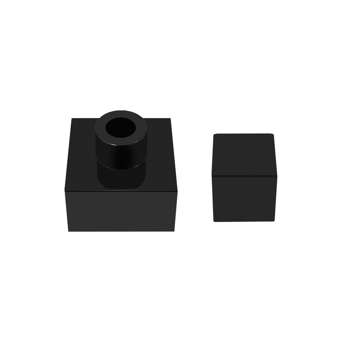 Acabamento Registro Gaveta Quadrado Deca 1.1/2 E 1.1/4 Pisa Black