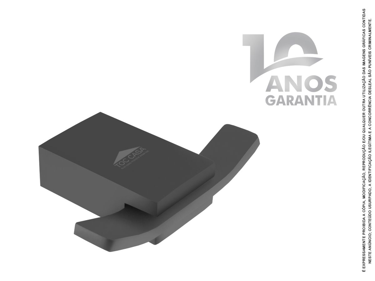 Cabide Duplo Para Toalha De Rosto e Banho Siena Black 2060