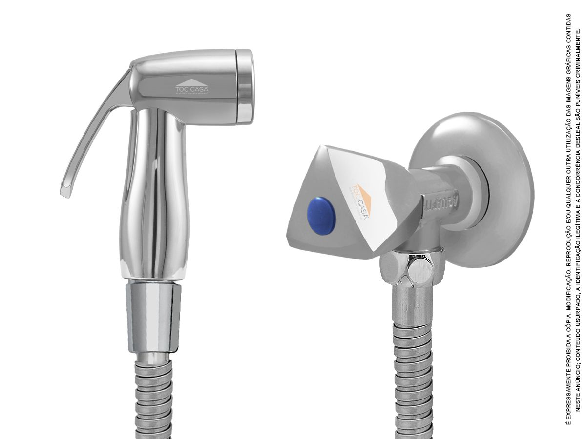Ducha Higiênica Registro Metal Cromada 1/4 Volta Tocsquare