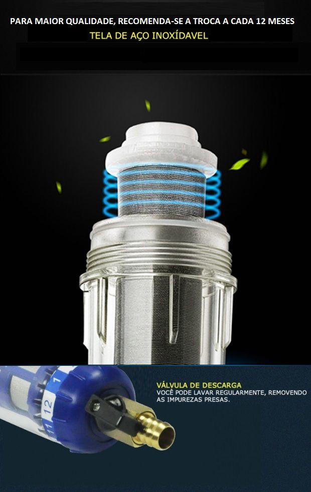 Filtro Caixa D água Lavável Vazão 3800 L h Aço Inox 316