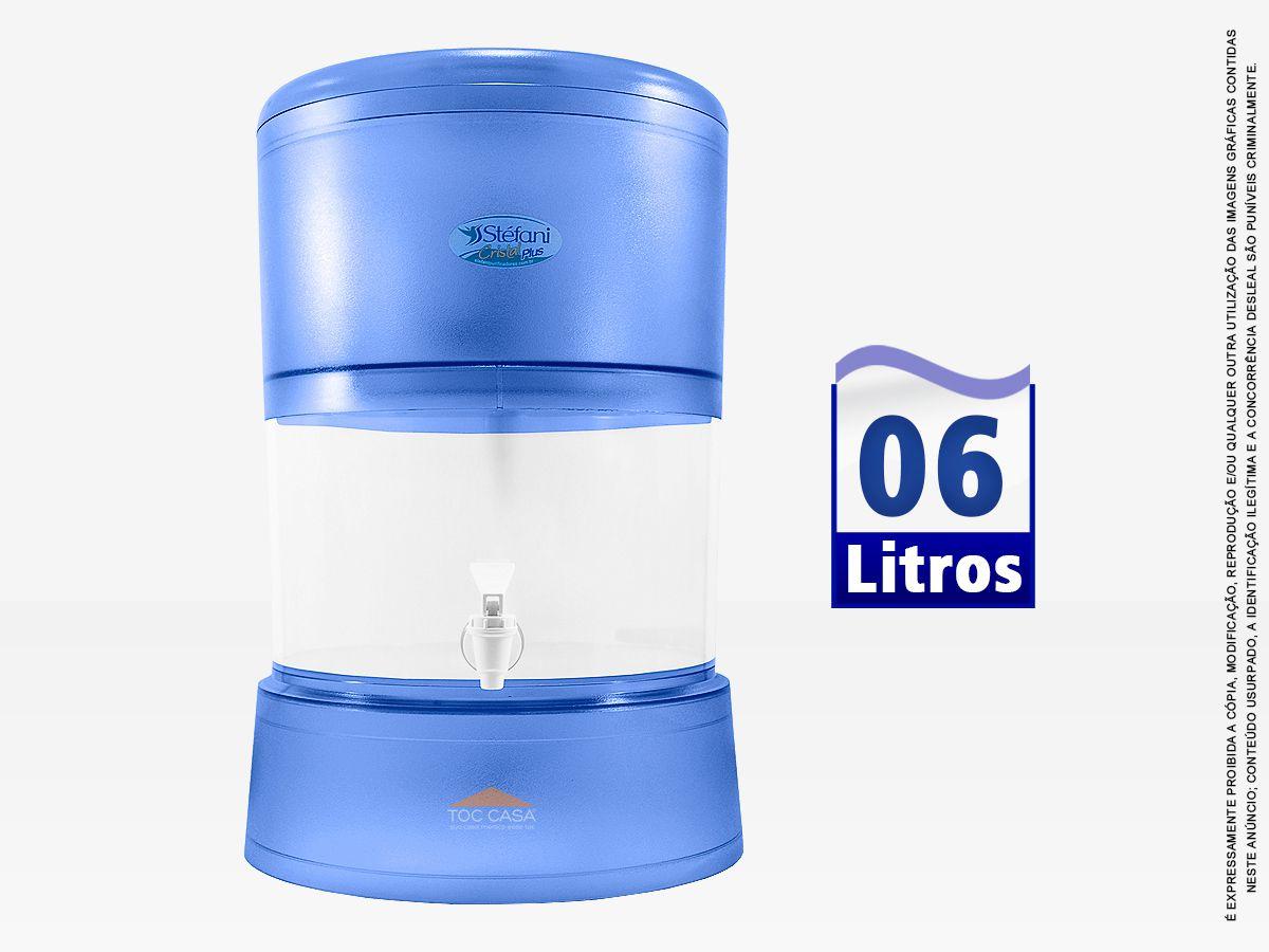 Filtro Cristal Plus 06 Litros Vela Tripla Ação Esterilizante