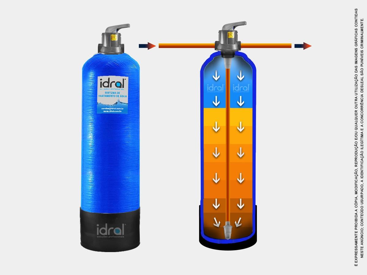 Filtro P/ Poço Remove Ferro Ferrugem Manganês 600l/h + Dosadora Automática