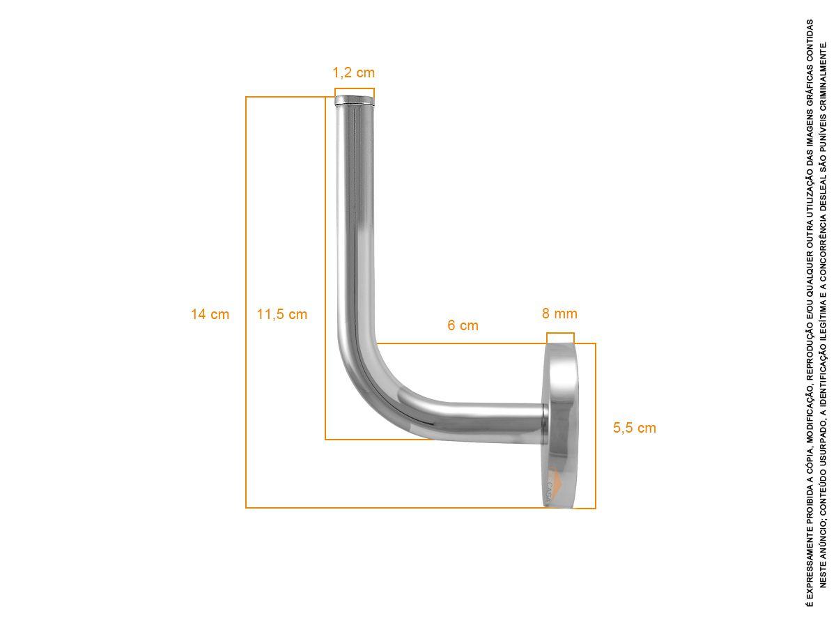 Gancho Cabide de Toalha em Metal Inox Roma 150010