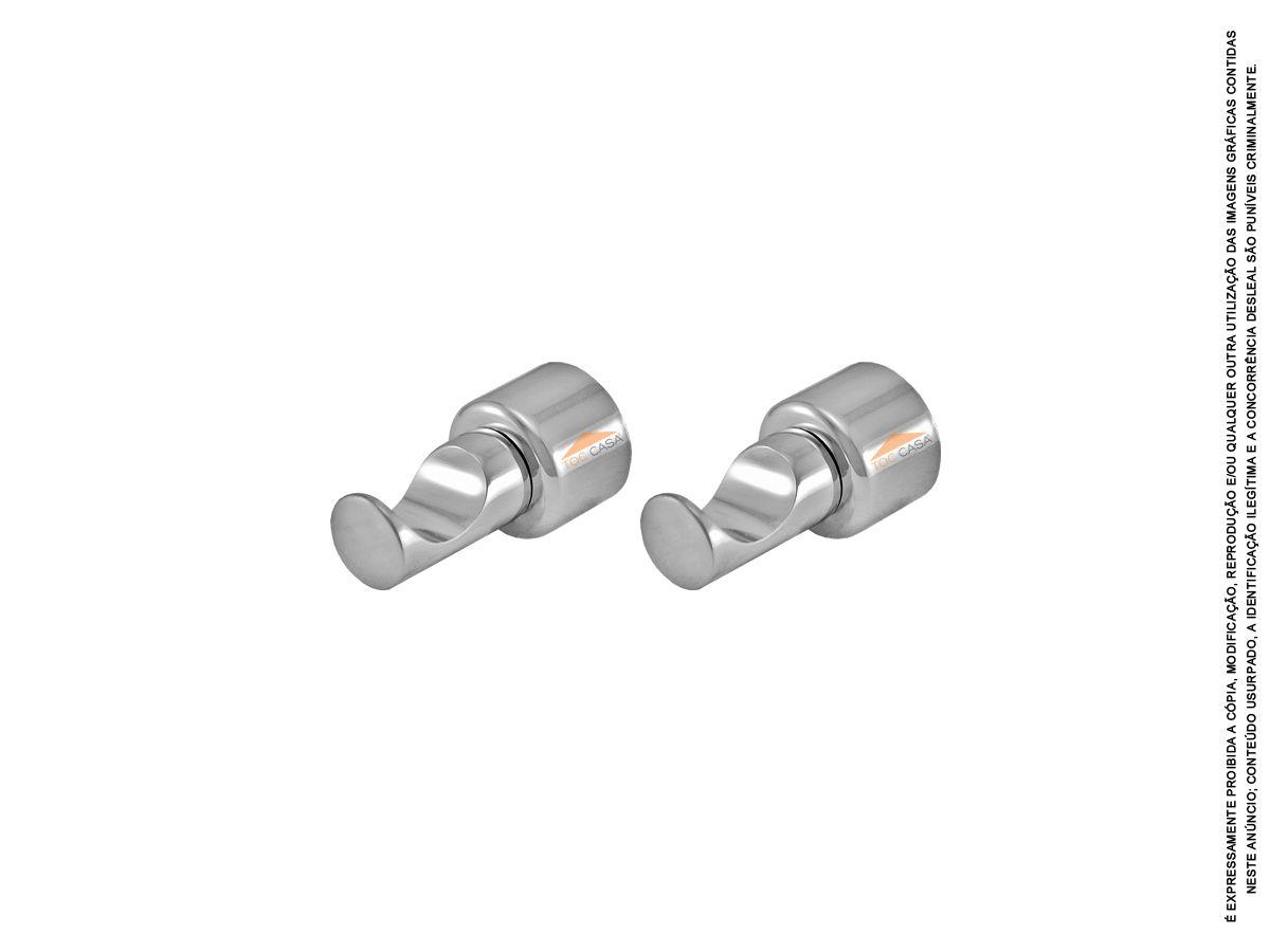 Gancho Cabide Individual Metal Para Toalha Rieti (par)