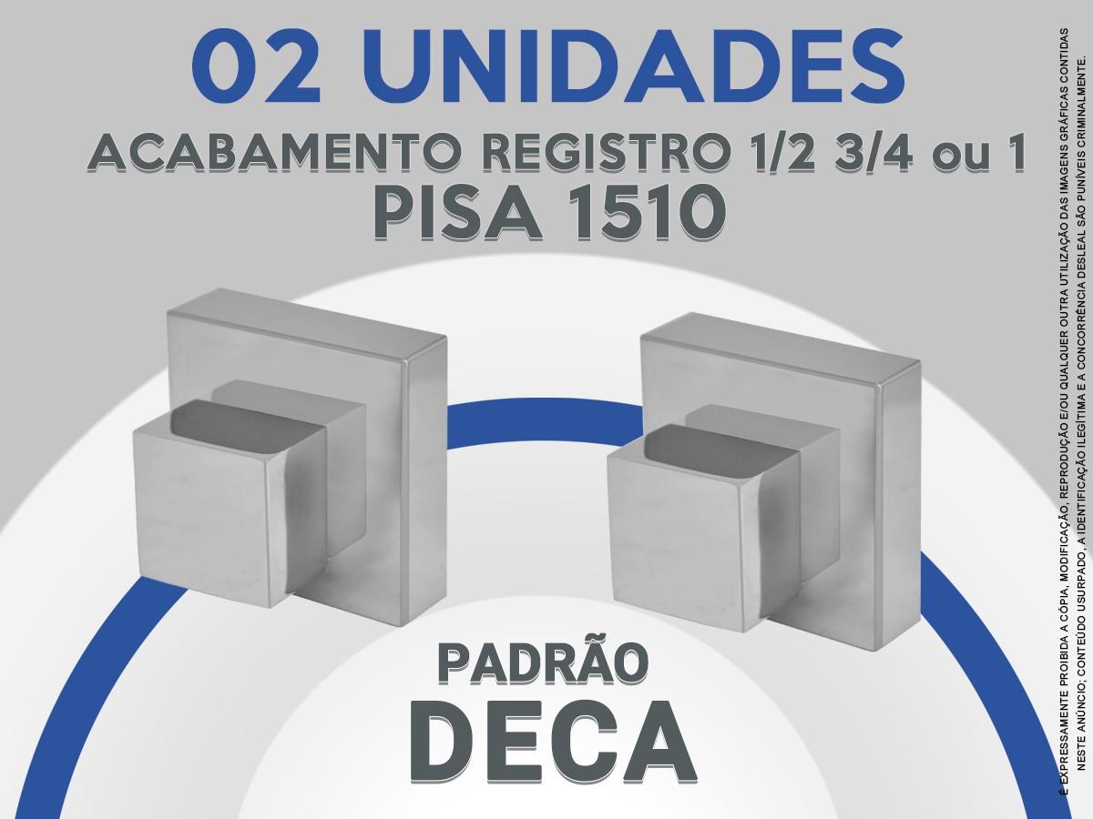 Kit 02 Acabamento De Registro Quadrado Abs 1/2 3/4 Ou 1 Pisa