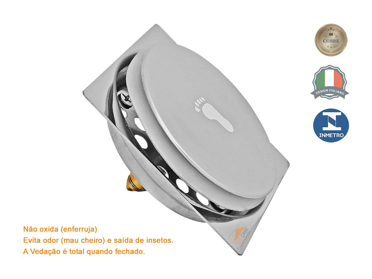 Kit 05 Ralo Click Inteligente Para Piso 15 Cm X 15 Cm