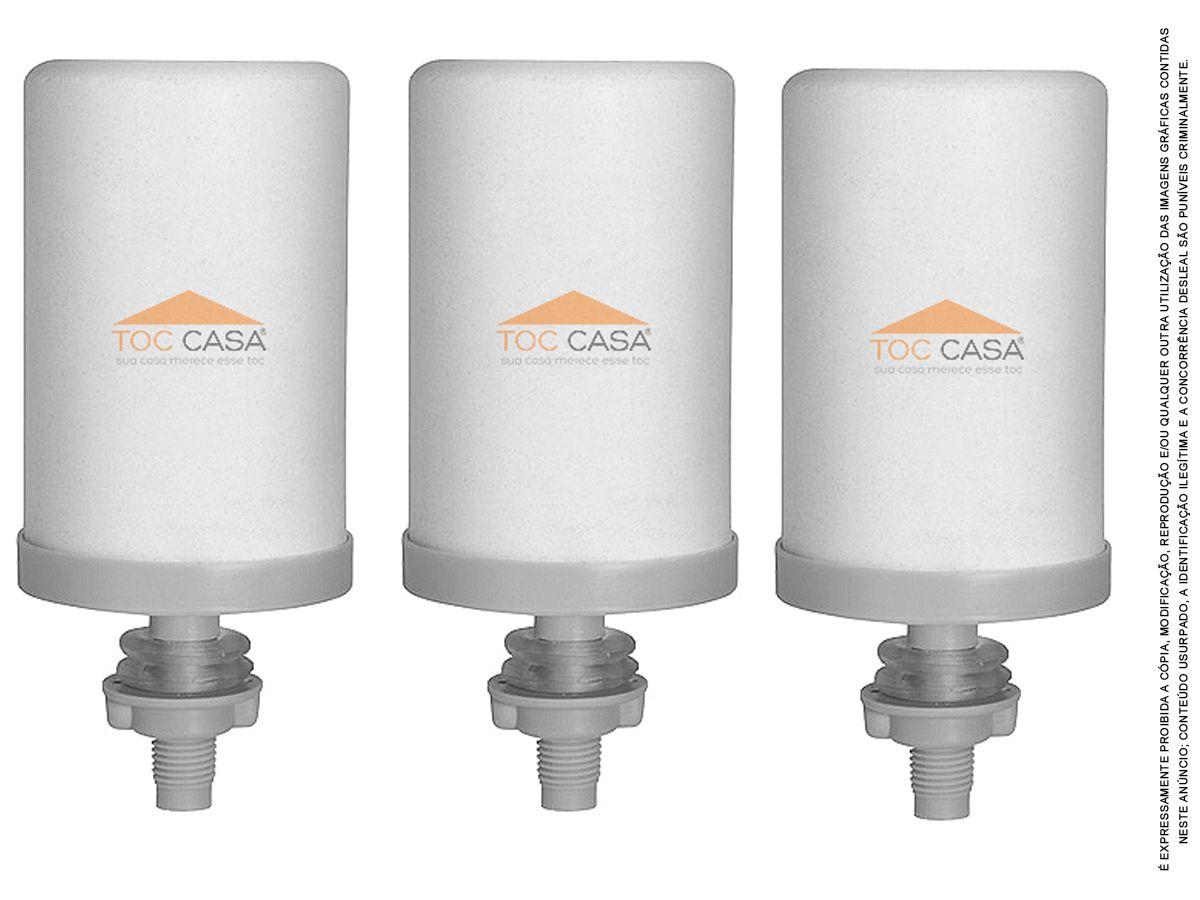 Kit 3 Vela Para Filtro De Barro Tripla Filtragem Tripla Ação