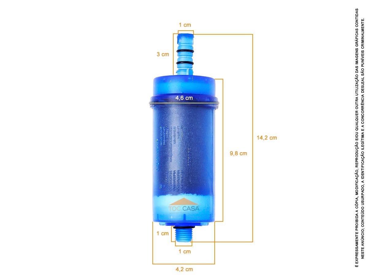 Kit 5 Refil Para Torneira Filtro Blindado Universal - Idral