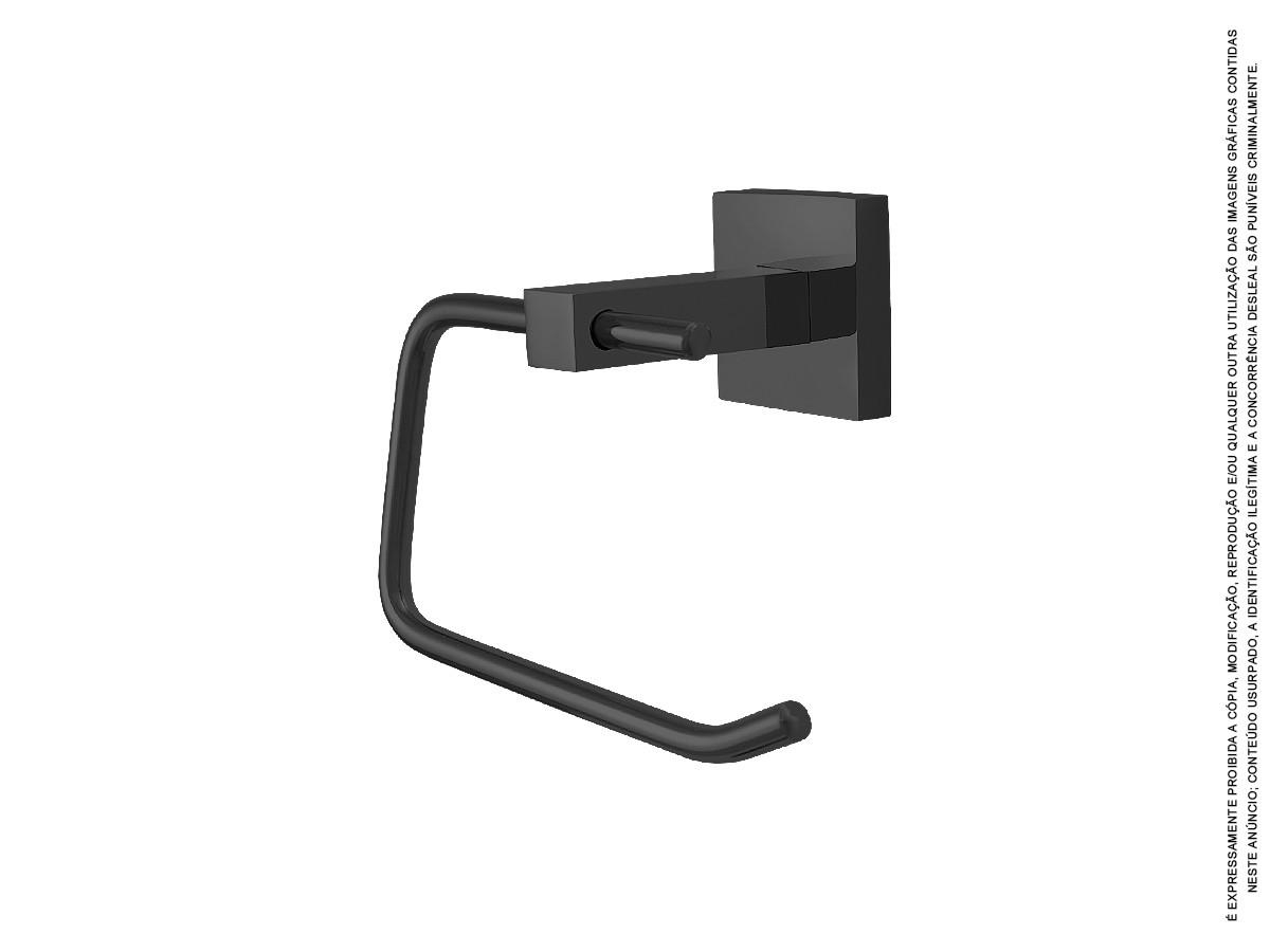 Kit Acessórios Para Banheiro Metal 5 Peças Idralquad Black