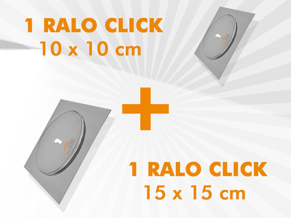 KIT RALO CLICK 01 UNIDADE 15X15 CM + 01 UNIDADE 10X10 CM