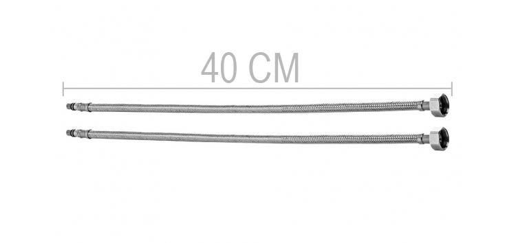 Mangueira Flexível Para Torneira Monocomando 40 Cm