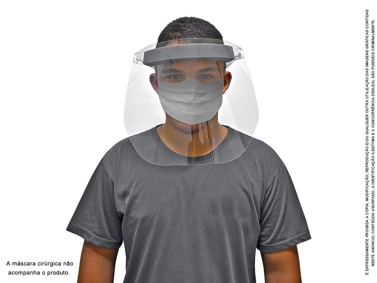Máscara Transparente Viseira Protetor Facial Face Shield