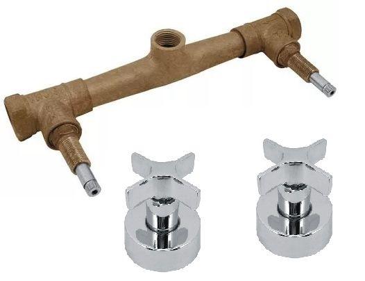 Misturador de Chuveiro com acabamento Lecce padrão Deca