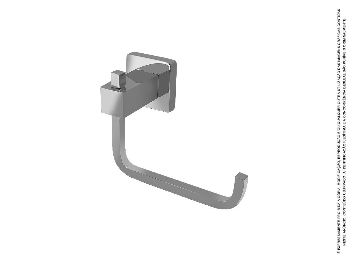 Porta Papel Higiênico Todo Quadrado Metal - Novara
