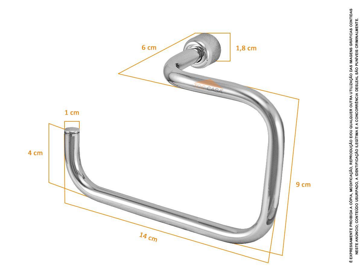 Porta Papeleira Cromada Metal Sem Tampa - Rieti 2020