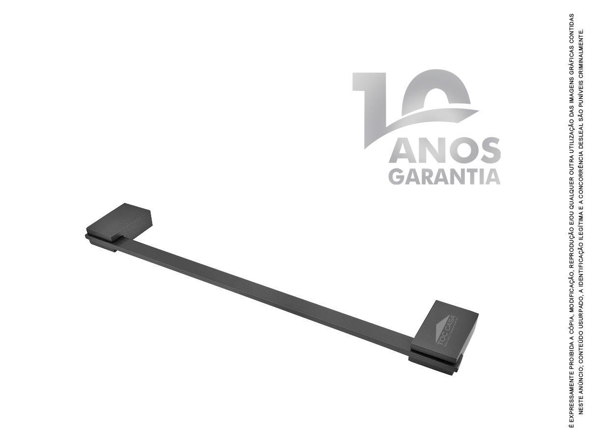 Porta Toalha 350mm 35 CM Padrão Luxo Siena Black 2070