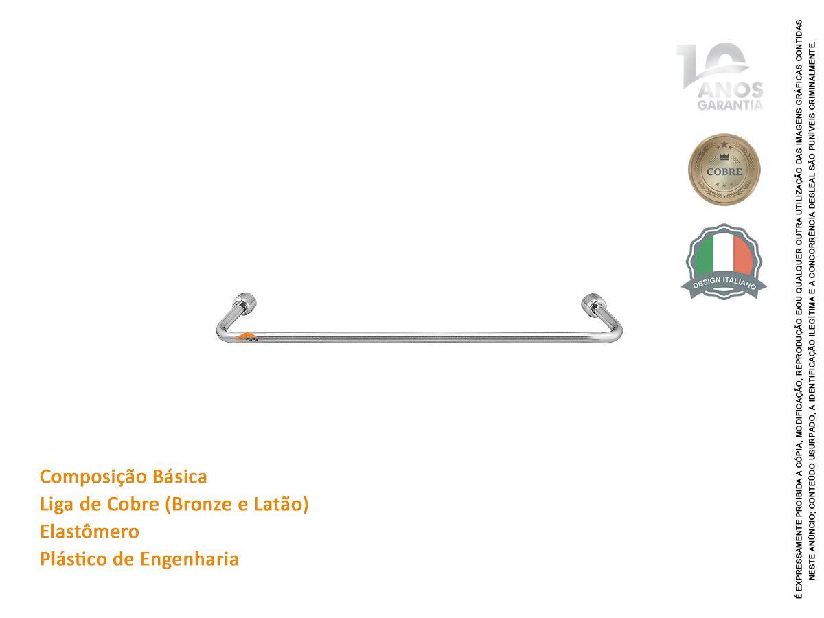 Porta Toalha Bastão 30 Cm Com 10 Anos De Garantia Rieti 2070