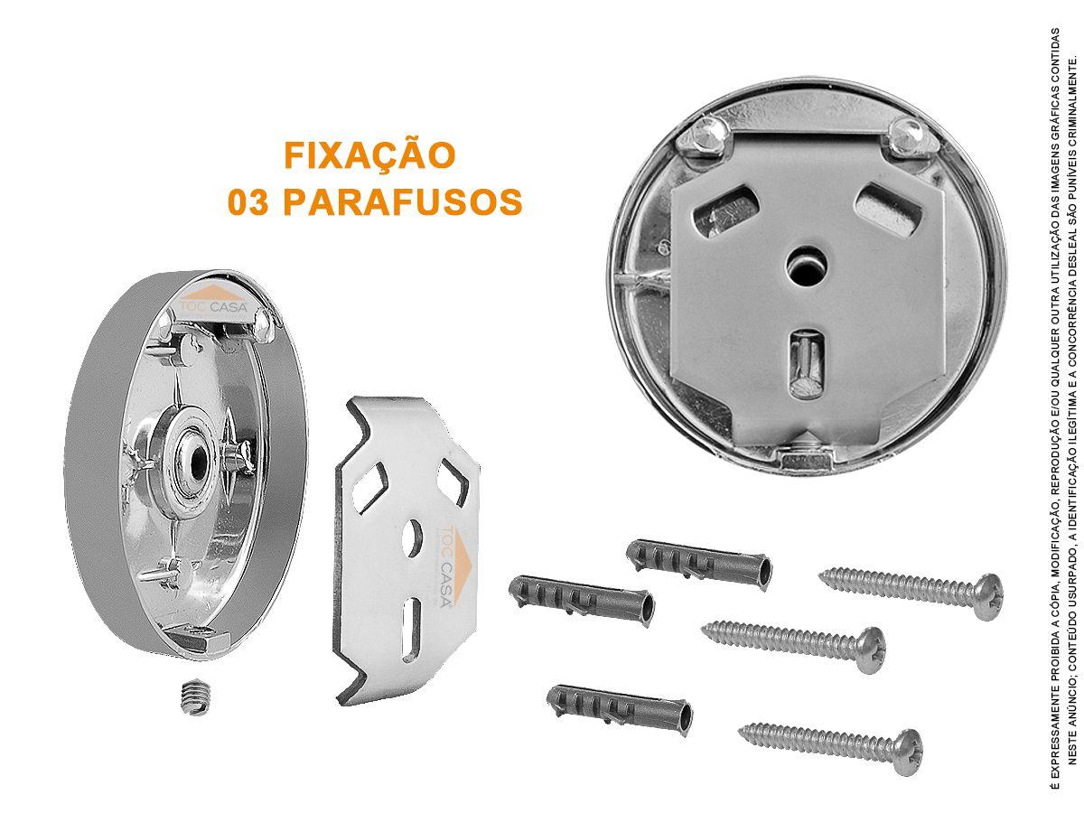 Porta Toalha Bastão 600 mm Cromado Inox Roma 150910