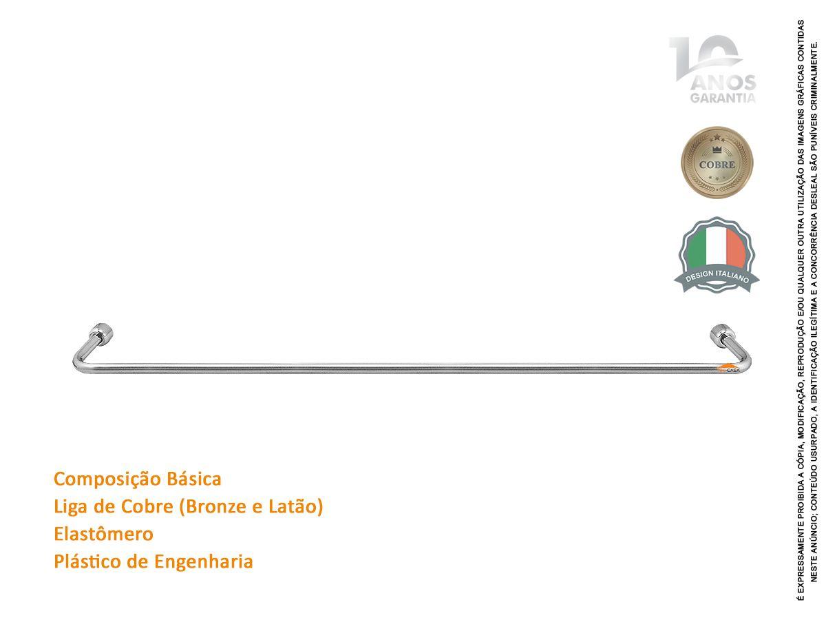 Porta Toalha Bastão 60 Cm Com 10 Anos De Garantia Rieti 2040