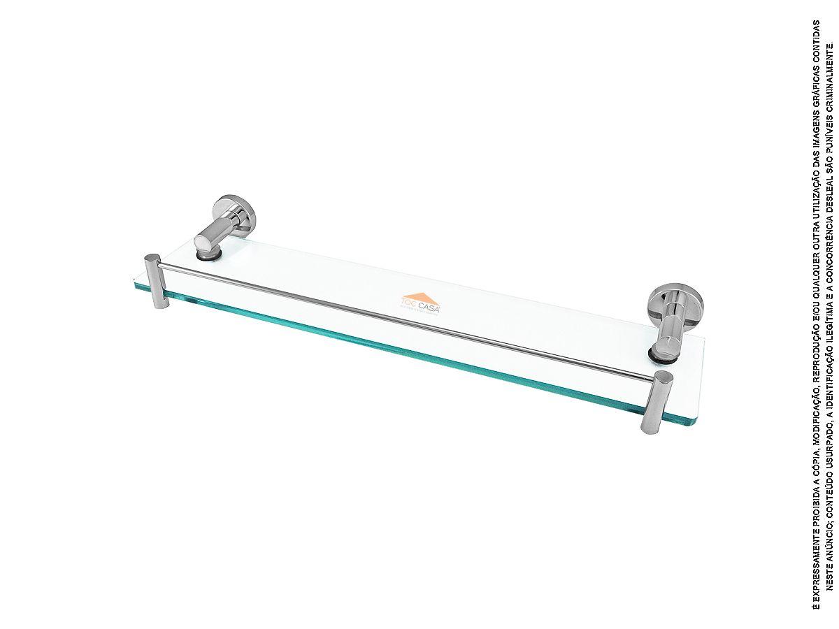 Prateleira de Vidro Porta Shampoo Transparente Tivoli 2030