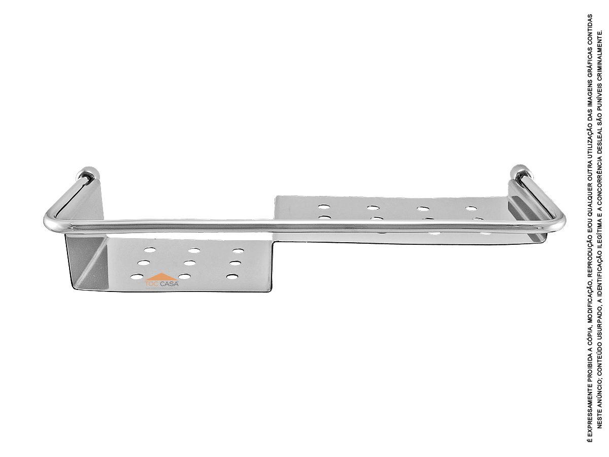Prateleira Porta Shampoo 400mm em Inox Rieti 2030