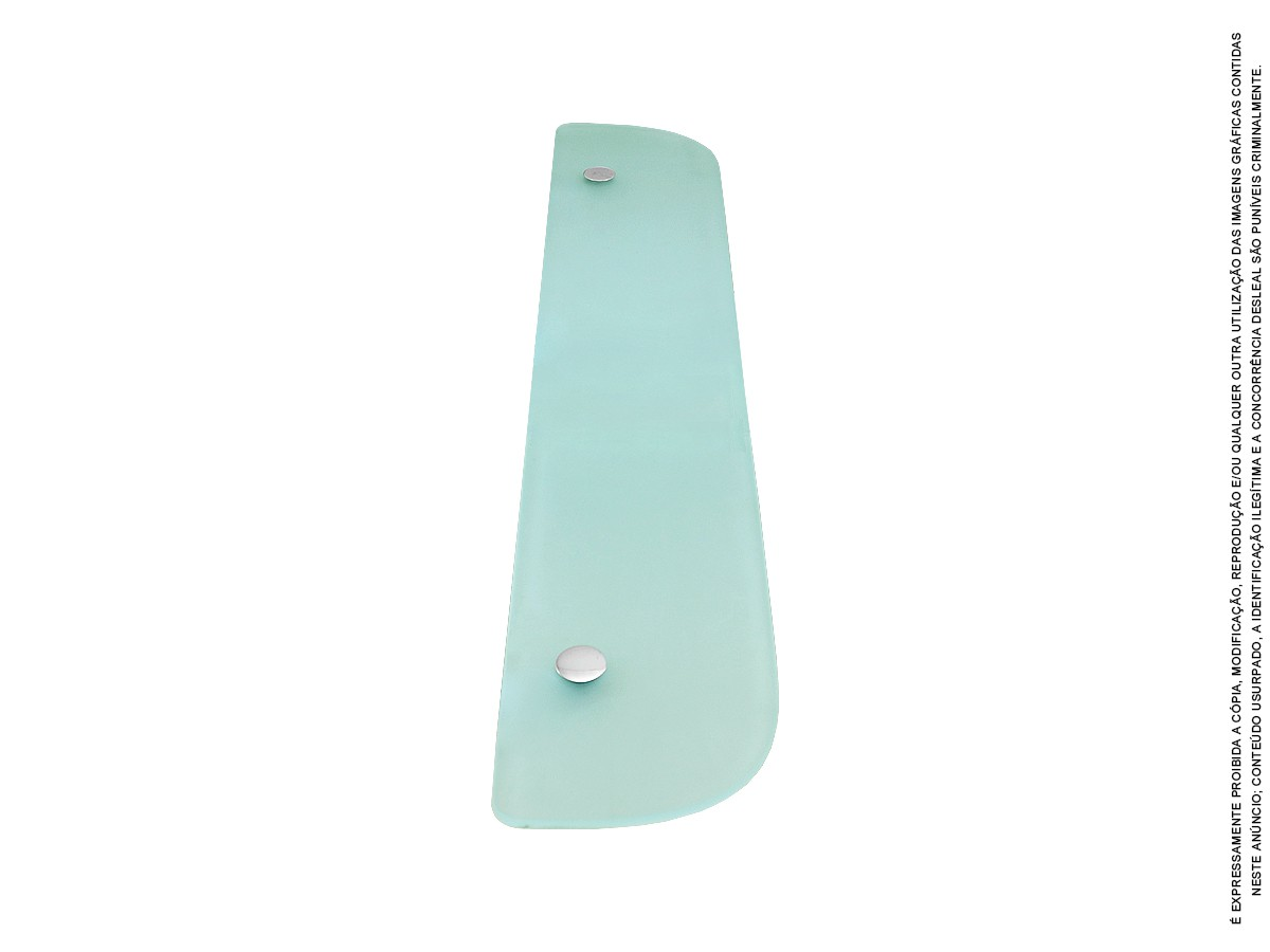 Prateleira Porta Shampoo De Vidro 60 Cm Luxo Kim Di Casa