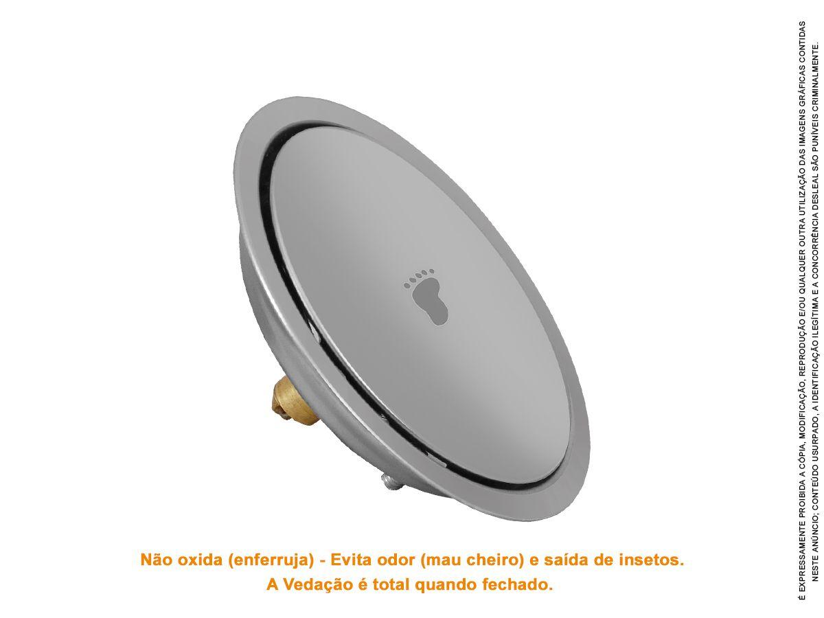 Ralo Click Redondo Inteligente Para Piso 10 Cm X 10 Cm
