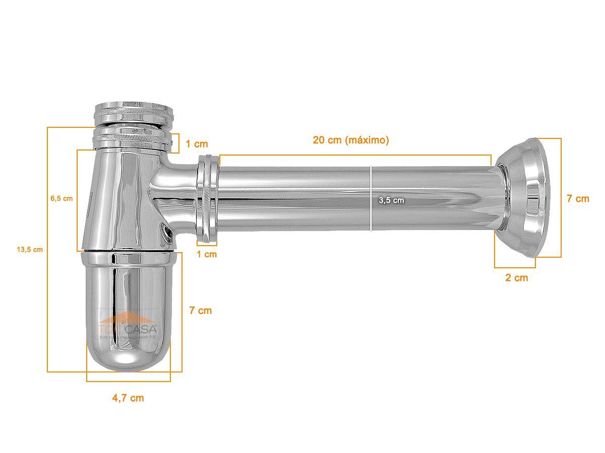 Sifão Para Tanque Metal Cromado 1.1/4 X 1.1/2 1680
