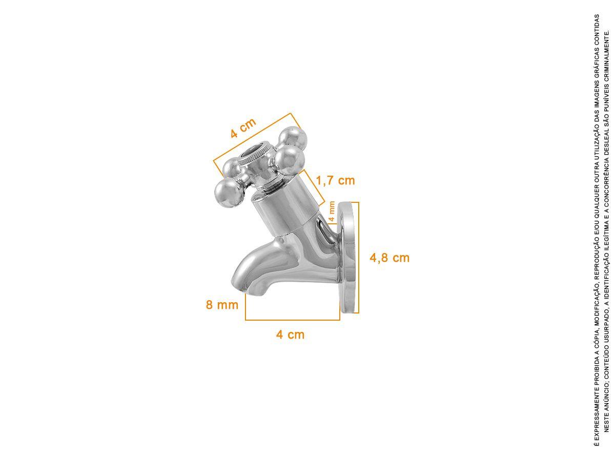 Torneira Chopeiras Bebedouro 100% Metal Padrão Universal C33