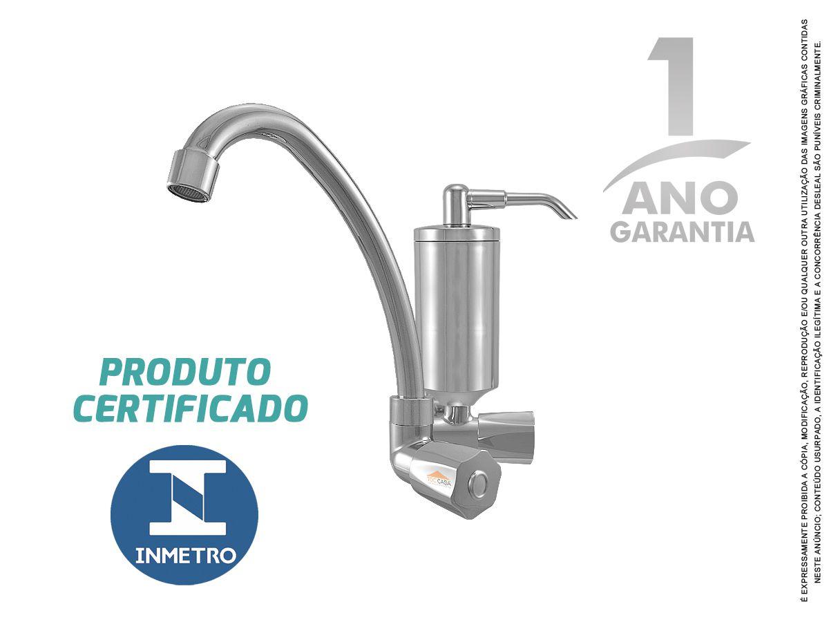 Torneira Com Filtro Cozinha Pia Parede Inmetro Tivoli C50