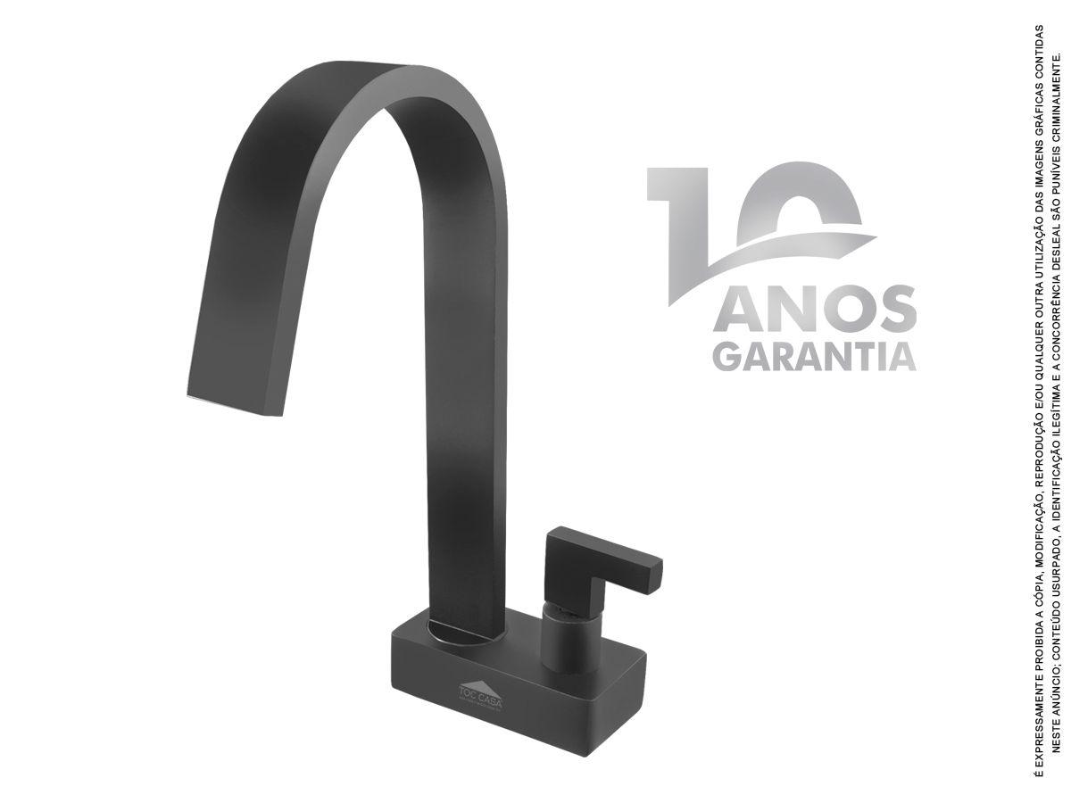 Torneira De Mesa Preto Fosco Banheiro Siena Black 1192