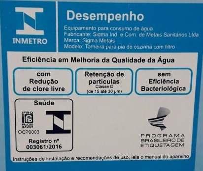Torneira Gourmet Com Filtro Mesa - Inmetro + 04 Refil Extra